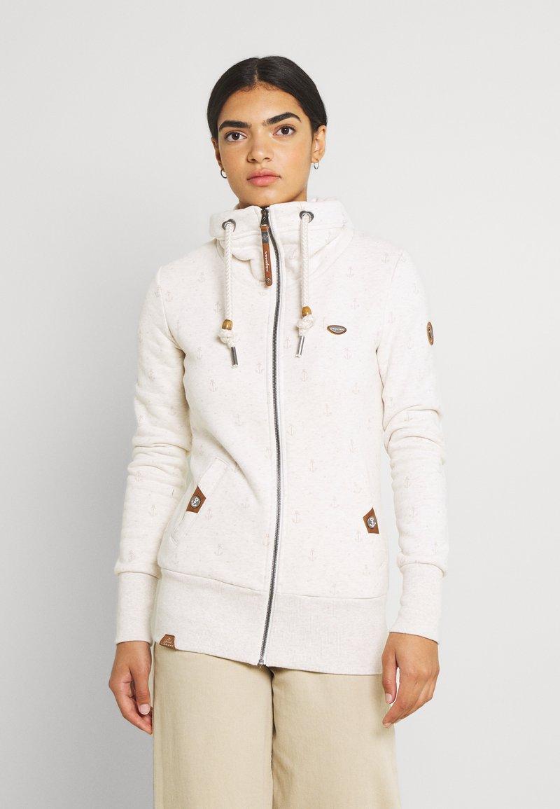 Ragwear - RYLIE MARINA ZIP - Zip-up sweatshirt - beige