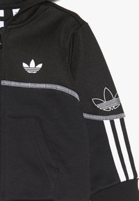 adidas Originals - OUTLINE FZ HOOD - Sudadera con cremallera - black/white - 4