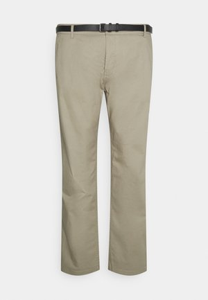 MEN'S WITH BELT - Chinos - sand