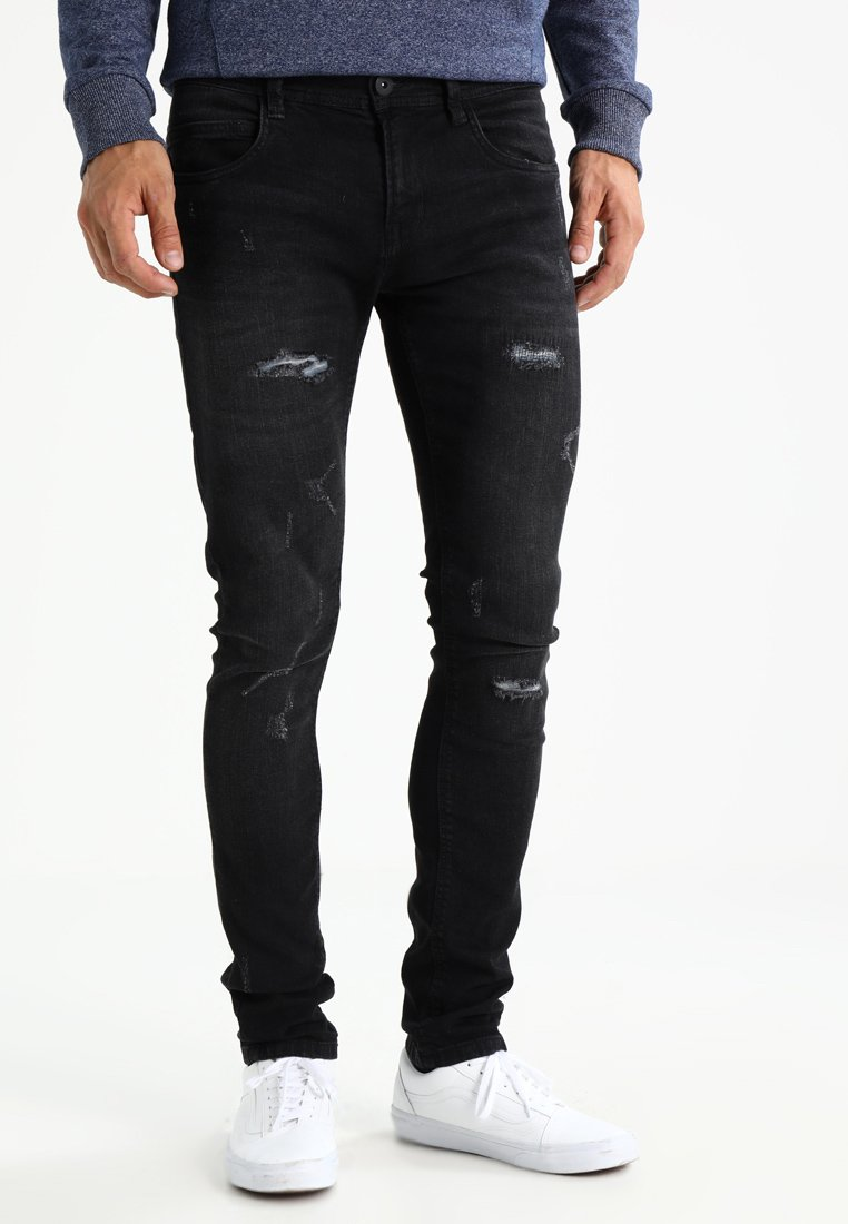 INDICODE JEANS - PALMDALE - Slim fit jeans - black