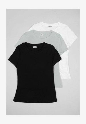 3 PACK - Jednoduché triko - grau