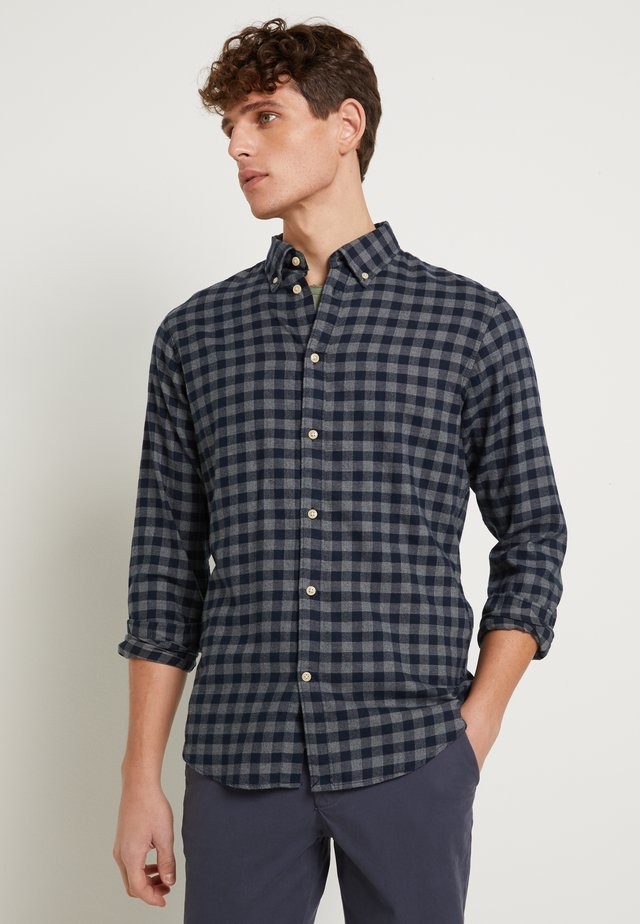 SLHSLIMFLANNEL SHIRT - Overhemd - dark blue