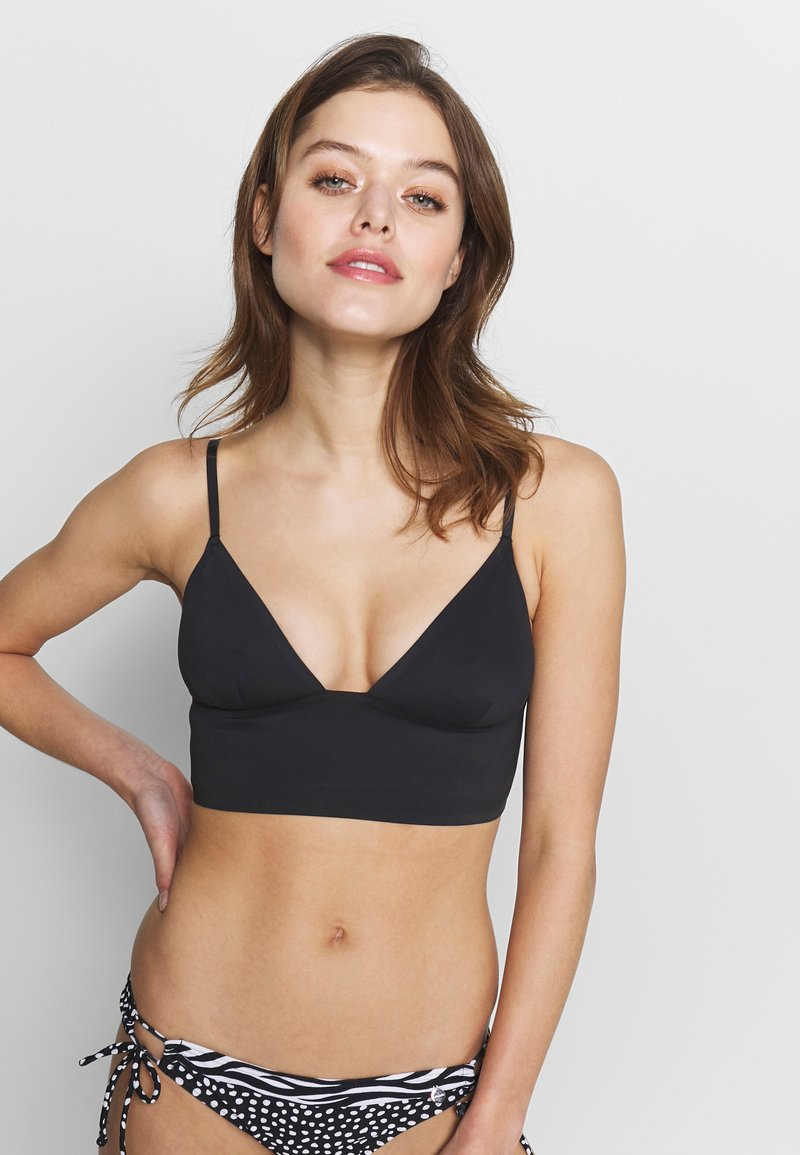 Free People - SAGE LONGLINE BRALETTE - Bikini top - black