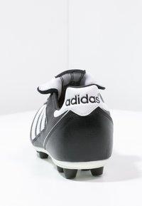 adidas Performance - KAISER 5 LEATHER FOOTBALL BOOTS FIRM GROUND - Voetbalschoenen met kunststof noppen - black/running white/rot - 3