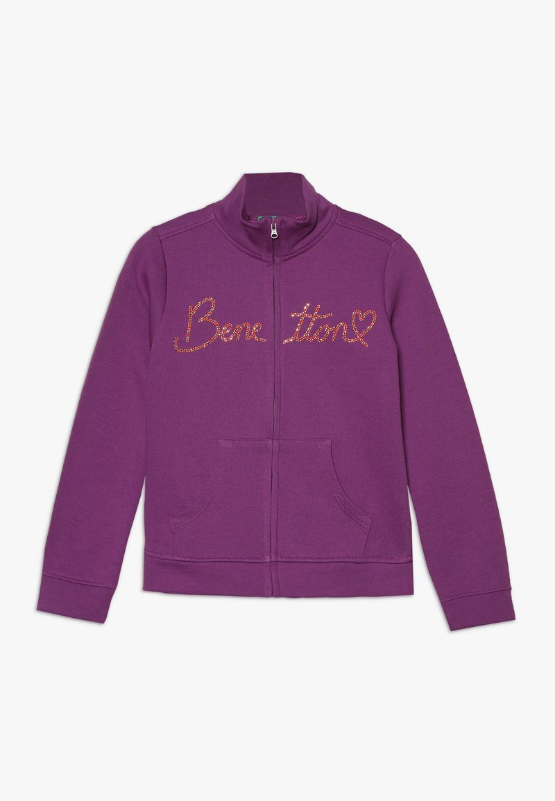 Benetton - JACKET - Mikina na zip - purple