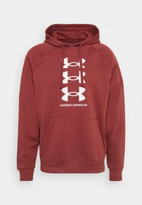 Under Armour - RIVAL MULTILOGO - Hoodie - cinna red/onyx white - 5