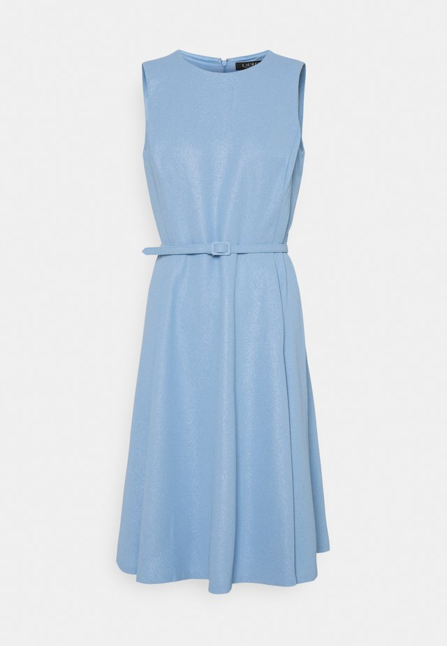 WOODSTCK FOIL DRESS - Vestito estivo - light sky blue