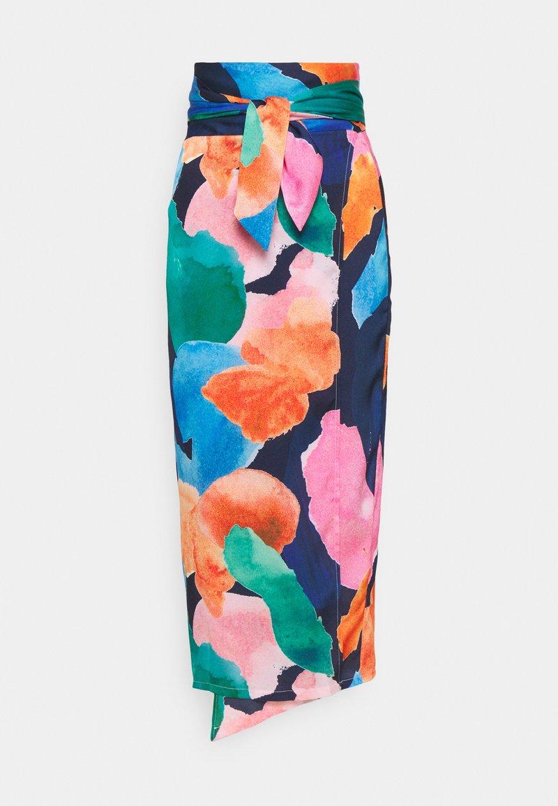 Never Fully Dressed Tall - ARTIST PRINT JASPRE SKIRT - Kietaisuhame - navy/multi