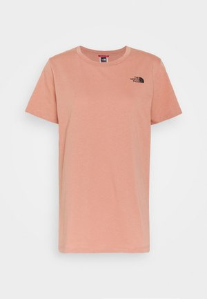 LETTER BACK TEE - T-shirt print - pink clay/evergreen