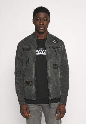 BE THEO PAT - Denim jacket - schwarz