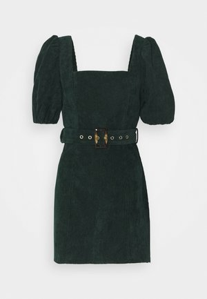 MILKMAID PUFF BELT SKATER DRESS  - Day dress - dark green