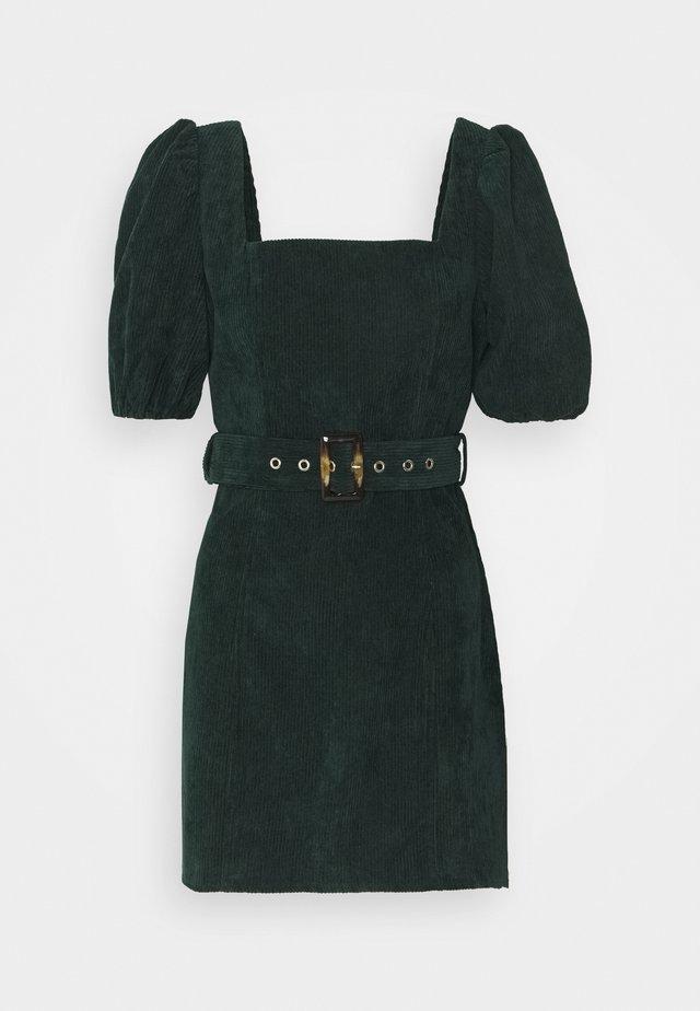 MILKMAID PUFF BELT SKATER DRESS  - Freizeitkleid - dark green