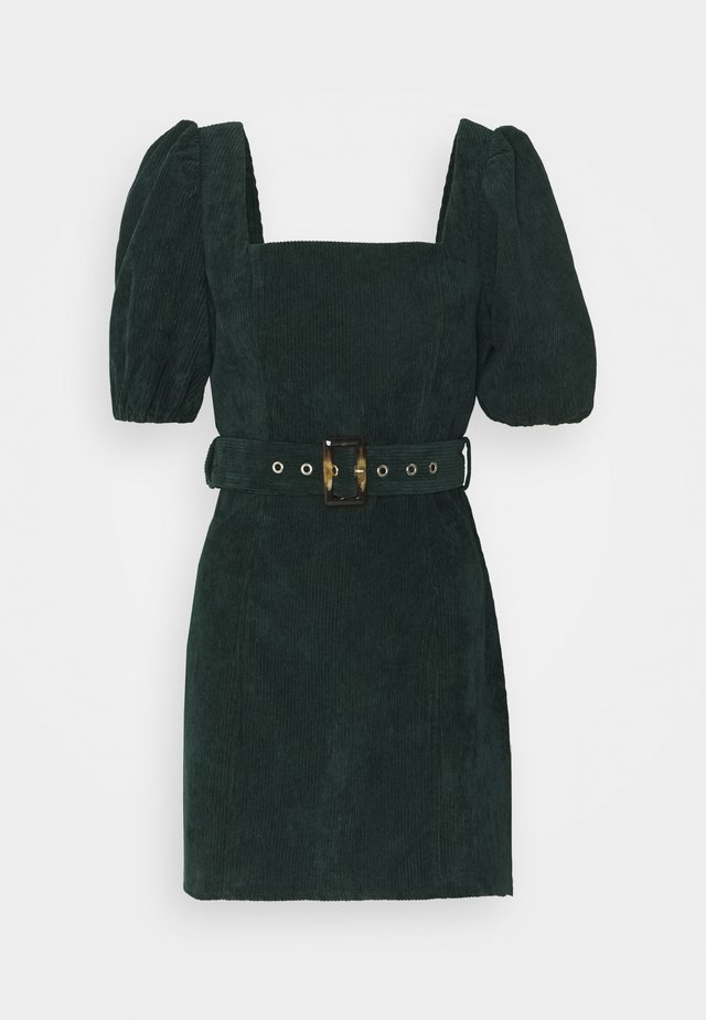 MILKMAID PUFF BELT SKATER DRESS  - Vestito estivo - dark green