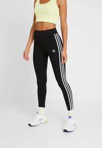 adidas Originals - Leggings - Trousers - black/white - 0