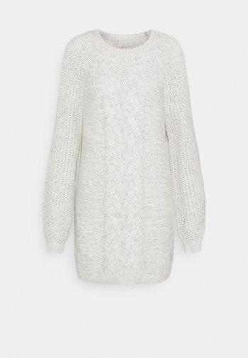 CABLE MOCK SWEATER DRESS - Jumper dress - gray