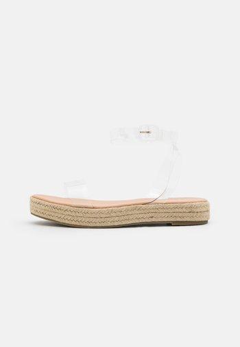 SLAVA - Platform sandals - clear