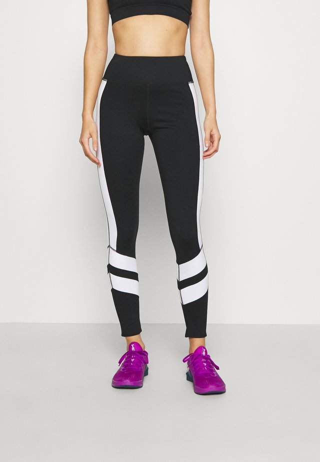 PANELLING LEGGINGS CORE - Leggings - black