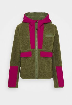 TERREX SHERPA HOODED - Fleecejacke - green