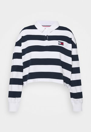 STRIPED RUGBY - Polo - twilight navy