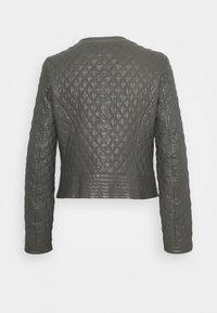 Oakwood - IRINA - Leather jacket - light grey - 1