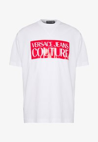 Versace Jeans Couture - BASIC LOGO REGULAR FIT - T-shirt imprimé - white / red - 5