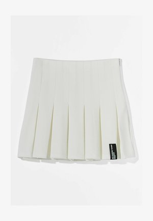 MIT KELLERFALTEN - Pleated skirt - white