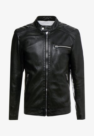 LUCKY JIM - Leather jacket - black