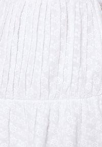 NA-KD - EMBROIDERED MINI SKIRT - Minikjol - white - 4