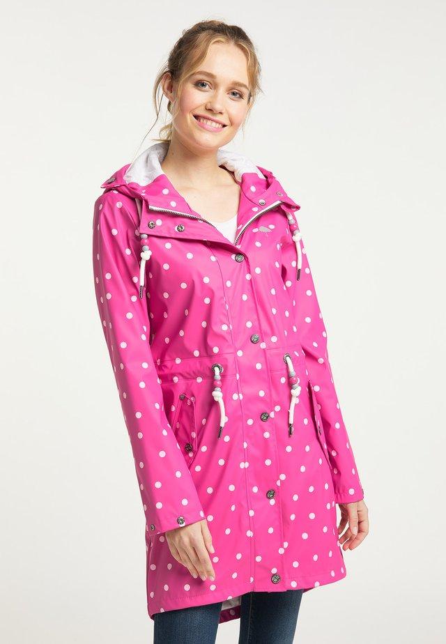 Vodotěsná bunda - pink aop