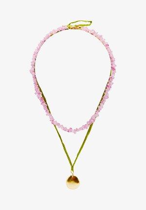 Ketting - mottled light pink