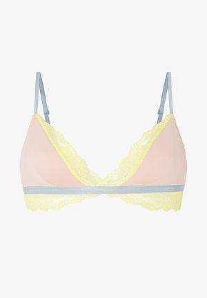LACE CONTRAST - Triangle bra - nude