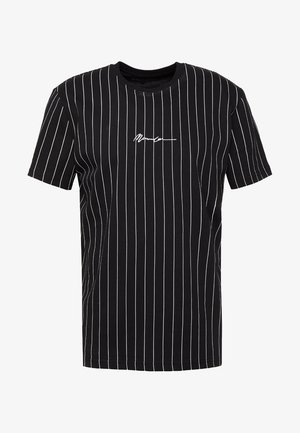 TEE WITH EMBROIDERY - T-shirt med print - black