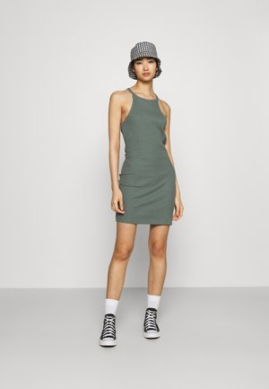 2 PACK - Jersey dress - black/green
