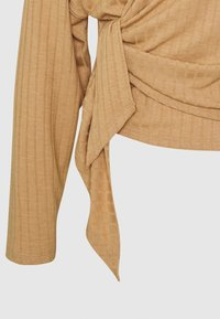 Nly by Nelly - LUXURIOUS WRAP - Long sleeved top - beige - 2