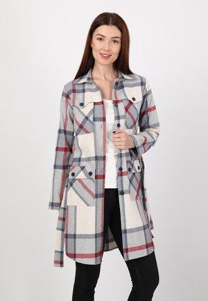 Button-down blouse - beige-navy