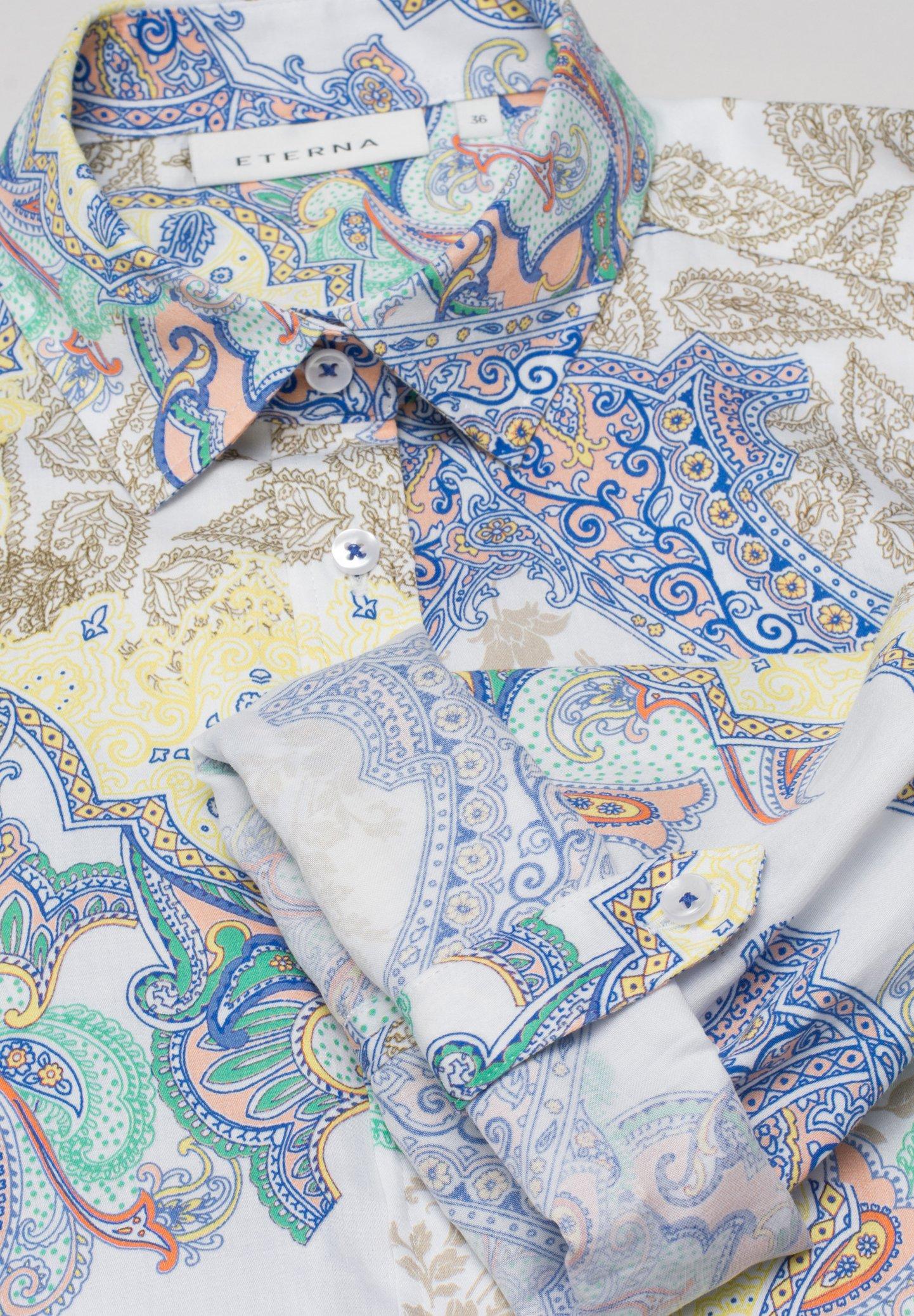 Eterna MODERN CLASSIC - Overhemdblouse - yellow/blue - Dameskleding Klassiek
