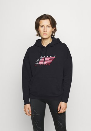 RELAXED FLAG HOODIE - Jersey con capucha - desert sky