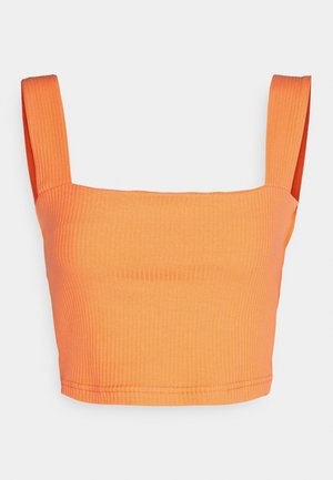 CROP WITH LOW STRAIGHT NECKLINES AND WIDE STRAPS - Top - orange