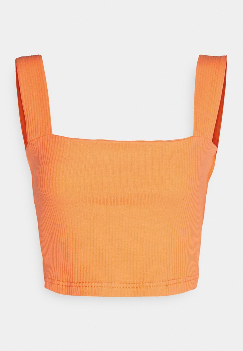 Glamorous - CROP WITH LOW STRAIGHT NECKLINES AND WIDE STRAPS - Topper - orange