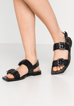 ANOMA - Sandaalit nilkkaremmillä - black