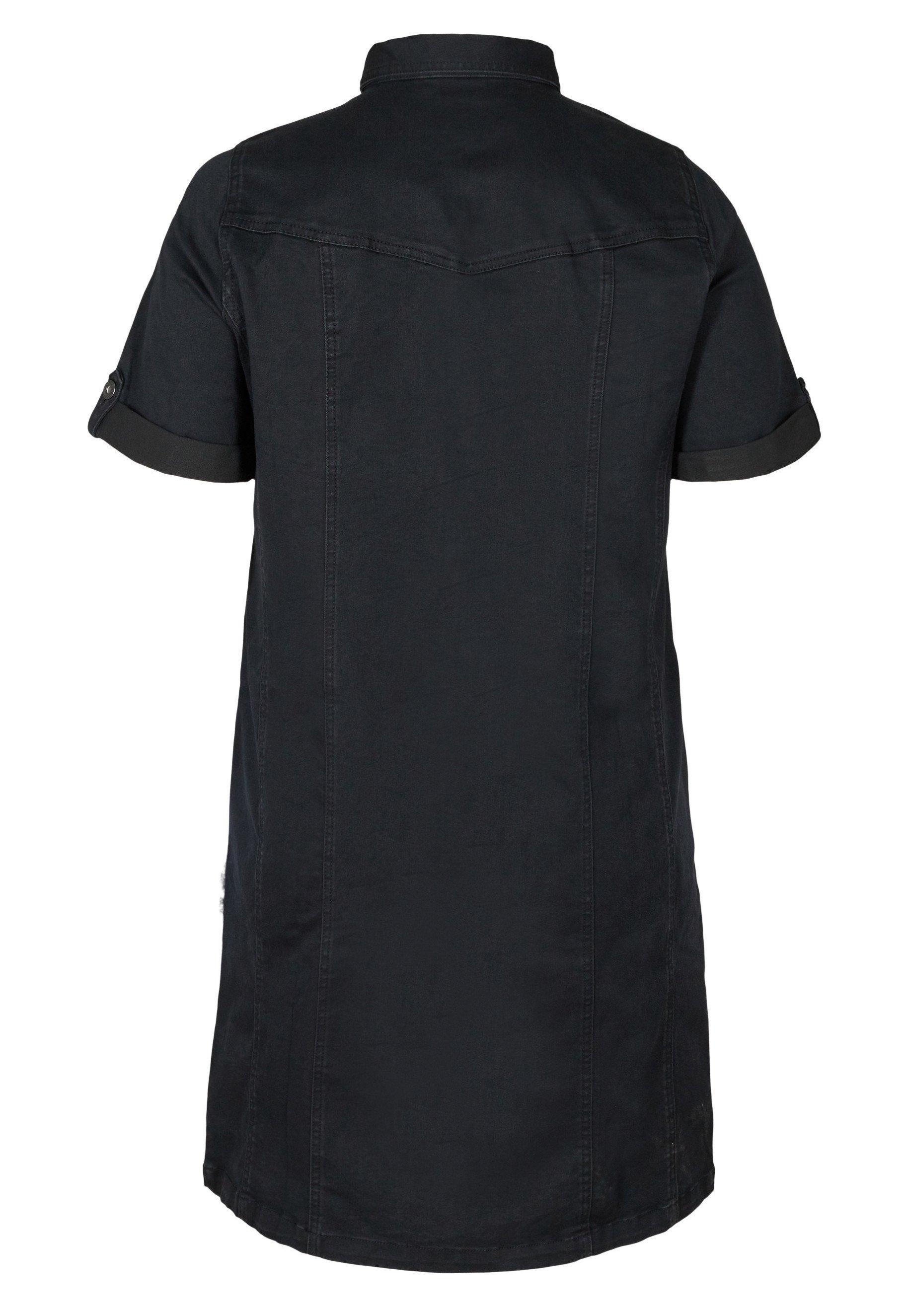 Zizzi Jeanskleid black/schwarz