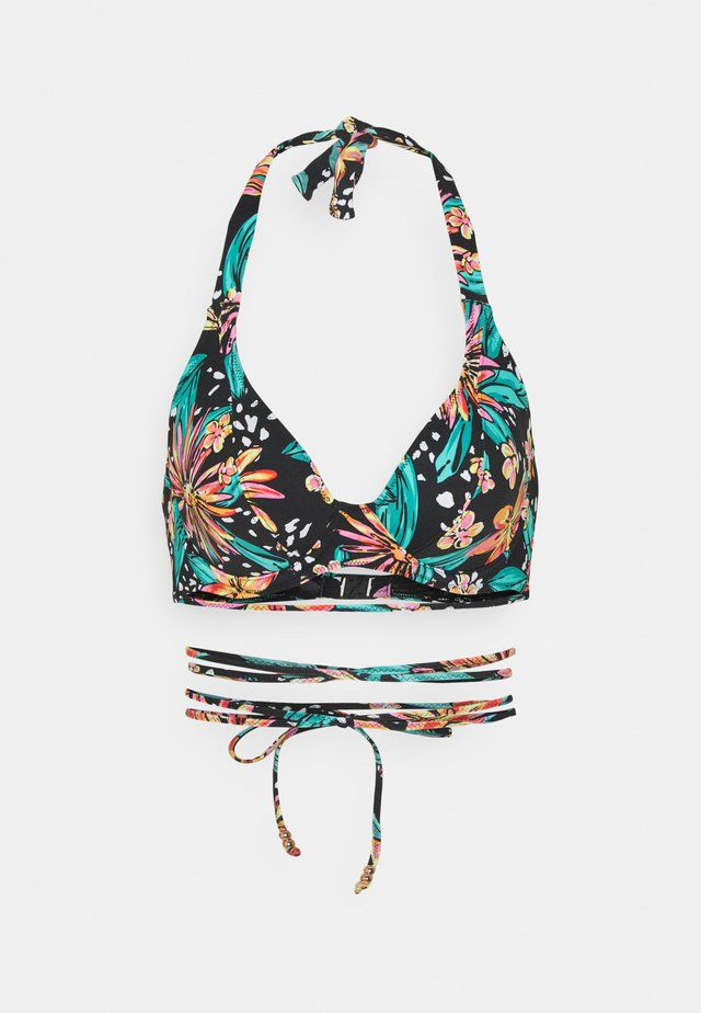 WILD DAISY HALTER - Bikinitop - multi