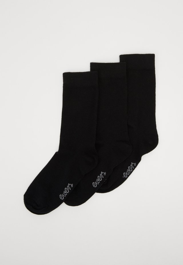 KIDS SOCKS  3 PACK - Strømper - black