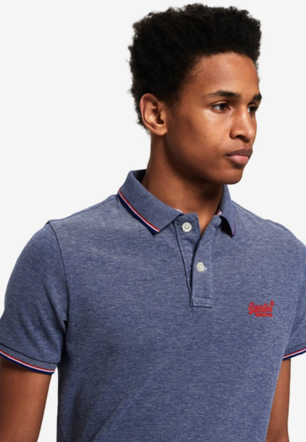 Superdry POOLSIDE - Koszulka polo - royal/wielokolorowy Odzież Męska MYMY