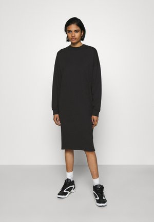 MINDY DRESS - Žerzejové šaty - black solid