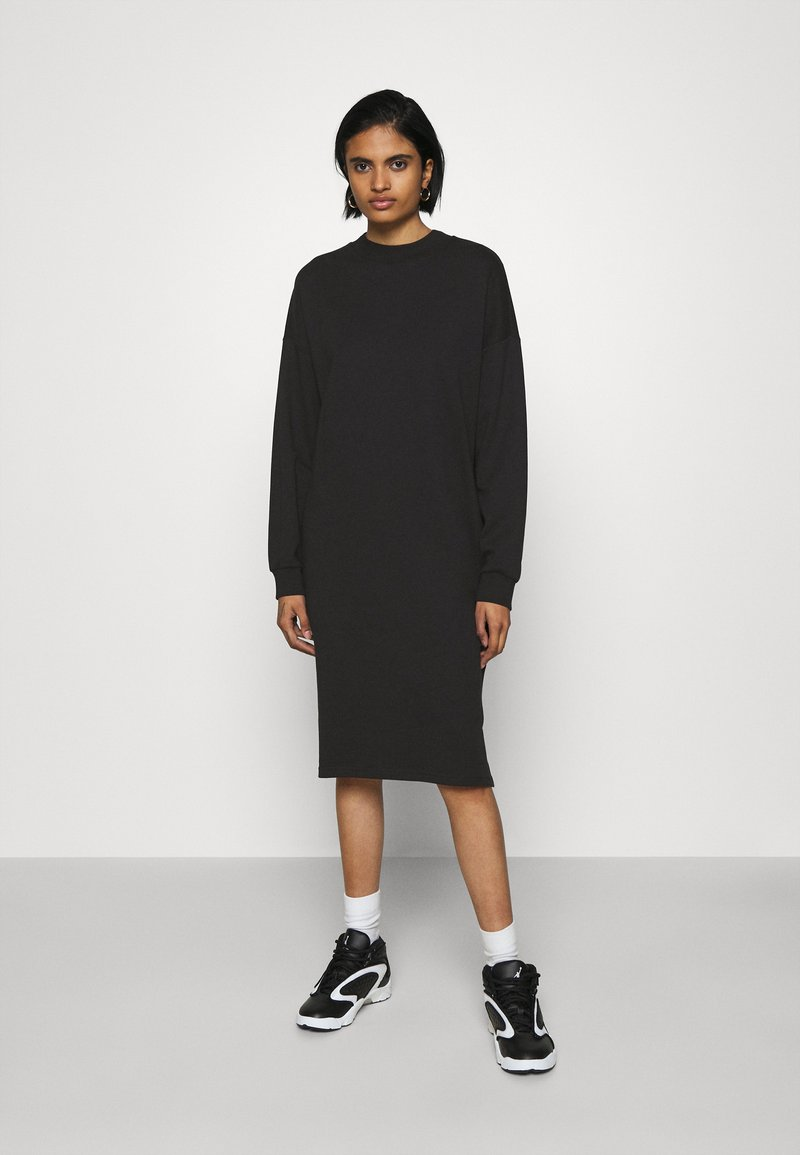 Monki - MINDY DRESS - Jerseyjurk - black solid