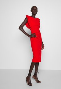 WAL G TALL - FRILL SLEEVE MIDI DRESS - Maxi šaty - red - 1