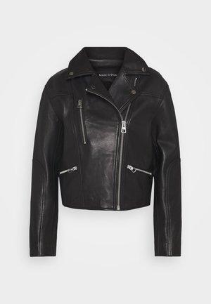 JACKET BIKER STYLE - Leather jacket - black