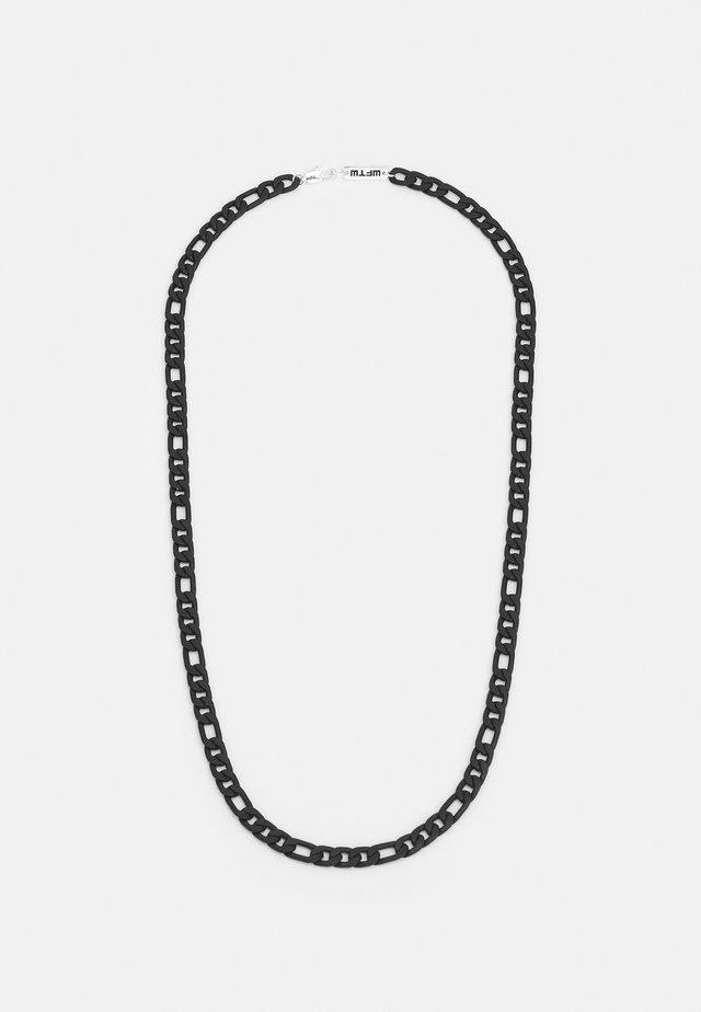 FLAT FIGARO CHAIN NECKLACE - Náhrdelník - black