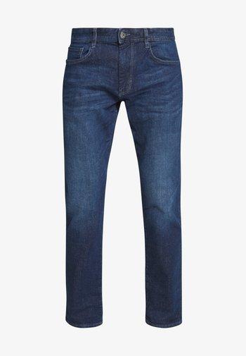 MARVIN - Straight leg jeans - dark stone wash denim blue